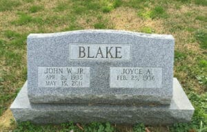 Slant Granite Headstones & Memorials- Maryland
