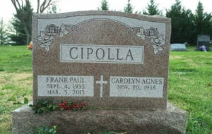 Traditional Granite & Marble Headstones and Lettering by Merkle Monuments in Maryland