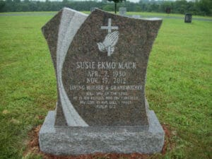 Granite Display Lettering for Memorials in Maryland