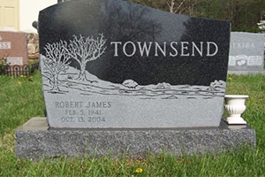 Quality Traditional Memorials- Marble & Granite Lettering by Merkle Monuments in Maryland