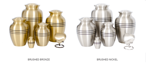 Traditional Metal Urns in Maryland by Merkle Monuments