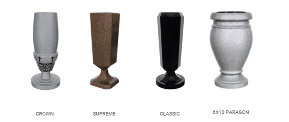 Upright Quality Vases and Urns by Merkle Monuments in Maryland