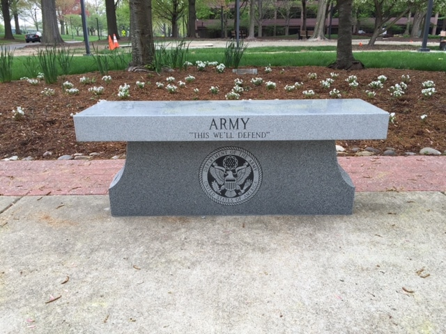 Custom Granite Benches in Maryland