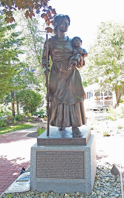 Revolutionary War - Molly Stark Statue, Wilmington, VT