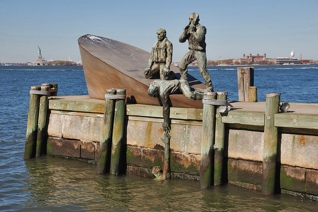 World War II - Merchant Mariners' Memorial, Battery Park, New York City
